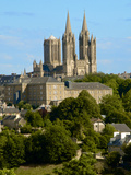 Notre Dame Cathedral on Skyline of Coutances, Cotentin, Normandy, France, Europe Photographic Print by Guy Thouvenin