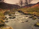 Fast Moving Stream, Near Ladybower Reservoir, Peak District Nat'l Park, Derbyshire, England Photographic Print by Ian Egner