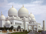 Sheikh Zayed Mosque, Abu Dhabi, United Arab Emirates, Middle East Photographic Print by Angelo Cavalli