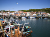 Trawlers in the Harbour, Scarborough, North Yorkshire, Yorkshire, England, United Kingdom, Europe Photographic Print by Mark Sunderland