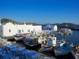 Port, Naoussa, Paros, Cyclades, Aegean, Greek Islands, Greece, Europe Fotografie-Druck von  Tuul