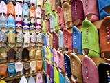 Soft Leather Moroccan Slippers in the Souk, Medina, Marrakesh, Morocco, North Africa, Africa Photographic Print by Gavin Hellier