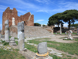 Roman Forum, Ostia Antica, Rome, Lazio, Italy, Europe Photographic Print by Vincenzo Lombardo