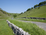 Long Dale Near Hartington, Peak District, Derbyshire, England, United Kingdom, Europe Fotoprint van Frank Fell