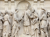 Marriage of Joseph and Mary, Loreto Church Sculpture, Prague, Czech Republic, Europe Photographic Print by  Godong