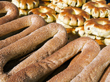 Sesame Round Bread for Sale in the Old City, Jerusalem, Israel, Middle East Photographic Print by Gavin Hellier