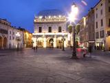 Piazza della Loggia at Dusk, Brescia, Lombardy, Italy, Europe Photographic Print by Vincenzo Lombardo