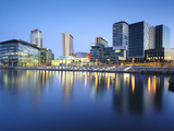 Dawn at Mediacity Uk Home of the Bbc, Salford Quays, Manchester, Greater Manchester, England, UK Photographic Print by Chris Hepburn