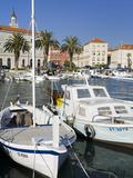 Fishing Boats on the Waterfront, Split, Dalmatian Coast, Croatia, Europe Photographic Print by Richard Cummins