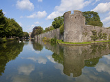 Moat and Bishops Palace, Home to Bishops of Bath and Wells for 800 Years, Wells, England Photographic Print by Neale Clarke