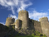 Conwy Medieval Castle in Summer, UNESCO World Heritage Site, Gwynedd, North Wales, UK, Europe Photographic Print by Peter Barritt