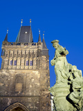 Gothic Old Town Bridge Tower and St Ivo Statue, UNESCO World Heritage Site, Prague, Czech Republic Photographic Print by Richard Nebesky
