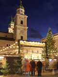 Christmas Market and Salzburg Cathedral, UNESCO World Heritage Site, Salzburg, Austria, Europe Photographic Print by Vincenzo Lombardo