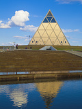 Palace of Peace and Reconciliation Pyramid Designed by Sir Norman Foster, Astana, Kazakhstan Photographic Print by Jane Sweeney