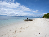 Beach with Fishing Boat, Manado, Sulawesi, Indonesia, Southeast Asia, Asia Photographic Print by Lisa Collins
