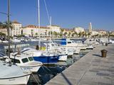 Fishing Boats on the Waterfront, Split, Dalmatian Coast, Croatia, Europe Stampa fotografica di Cummins, Richard