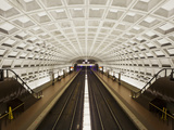 Foggy Bottom Metro Station Platform, Part of the Washington D.C. Metro System, Washington D.C., USA Photographic Print by Mark Chivers