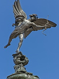 Winged Statue of Eros, Shaftesbury Memorial, Piccadilly Circus, London, England Photographic Print by Walter Rawlings