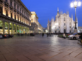 Piazza Duomo at Dusk, Milan, Lombardy, Italy, Europe Photographic Print by Vincenzo Lombardo