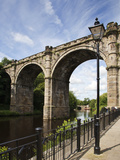 Knaresborough Viaduct over the River Nidd, Knaresborough, North Yorkshire, Yorkshire, England, UK Photographic Print by Mark Sunderland