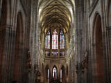 The Nave of St Vitus' S Cathedral, Prague, Czech Republic, Europe Photographic Print by  Godong