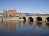 North Quay and Bridge over River Severn, Worcester, Worcestershire, England, United Kingdom, Europe Photographic Print by Julian Pottage