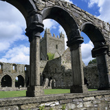 Ruins of Cistercian Jerpoint Abbey, Jerpoint, County Kilkenny, Leinster, Republic of Ireland Photographic Print by Stuart Black