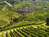 View of Vineyards and Durbach Village, Ortenau, Baden-Wurttemberg, Germany, Europe Photographic Print by Jochen Schlenker