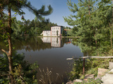 Skaly Mill across Pond, Slatinany, Pardubicko, Czech Republic, Europe Photographic Print by Richard Nebesky