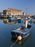 West Bay Harbour with Yachts and Fishing Boats, Bridport, UNESCO World Heritage Site, England Photographic Print by Neale Clarke
