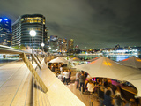 Opera Bar and Circular Quay at Night, Syndey, New South Wales, Australia, Pacific Photographic Print by Matthew Williams-Ellis