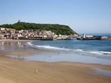 South Sands from the Cliff Top, Scarborough, North Yorkshire, Yorkshire, England, UK, Europe Photographic Print by Mark Sunderland