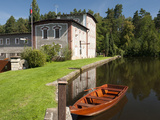 Skaly Mill with Pond and Boat, Slatinany, Pardubicko, Czech Republic, Europe Photographic Print by Richard Nebesky