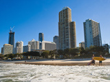 Surfers at Surfers Paradise, Gold Coast, Queensland, Australia, Pacific Photographic Print by Matthew Williams-Ellis