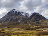 Single Small Cottage and Buachaille Etive Mor, Rannoch Moor, Glencoe, Highland Region, Scotland Photographic Print by Chris Hepburn