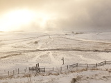 Snow over Peak District National Park, Derbyshire, England, UK, Europe Photographic Print by Ian Egner