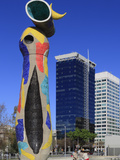 Dona I Ocell (Woman and Bird) Sculpture by Joan Miro, Barcelona, Catalunya, Spain, Europe Photographic Print by Rolf Richardson