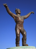 Memorial of a Wrestler in Muron, Mongolia, Central Asia, Asia Photographic Print by Stuart Keasley
