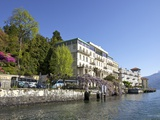Spring Sunshine on the Grand Hotel, Cadenabbia, Lombardy, Lake Como, Northern Italy, Europe Photographic Print by Peter Barritt