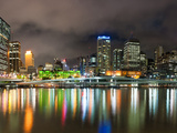 Central Business District City Skyline at Night Taken from Southbank of Brisbane, Australia Photographic Print by Matthew Williams-Ellis