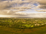 View from the Top of Black Hill (Crib Y Garth) Looking East over Herefordshire, England, UK, Europe Photographic Print by Ian Egner