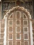 Carved Arched Door in 19th Century Prataspeswar Terracotta Temple, Temple Complex, Kalna, India Photographic Print by Annie Owen