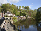 Sitting on the Riverside in Spring, Knaresborough, North Yorkshire, England, United Kingdom, Europe Photographic Print by Mark Sunderland
