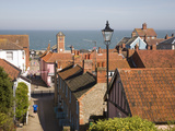 View over Rooftops to the North Sea, Aldeburgh, Suffolk, England, United Kingdom, Europe Photographic Print by Ian Murray