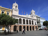 Plaza de Armas, Alcaldia, City Hall, Old San Juan, San Juan, Puerto Rico, West Indies, USA Photographic Print by Wendy Connett