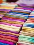 Traditional Silk Scarves of Northern Thailand at the Night Market, Chiang Rai, Thailand Photographic Print by Matthew Williams-Ellis