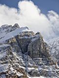 Craggy Mountains with Snow Cover, Jasper Nat'l Park, UNESCO World Heritage Site, Alberta, Canada Photographic Print by James Hager