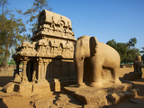 Five Ratha, Mamallapuram (Mahabalipuram), UNESCO World Heritage Site, Tamil Nadu, India, Asia Photographic Print by  Tuul