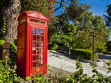 Red Telephone Box, Alameda Gardens, Gibraltar, Europe Photographic Print by Giles Bracher