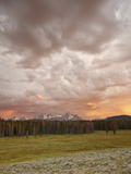 Orange Clouds at Sunset over the Sawtooth Mountains, Sawtooth National Recreation Area, Idaho, USA Photographic Print by James Hager